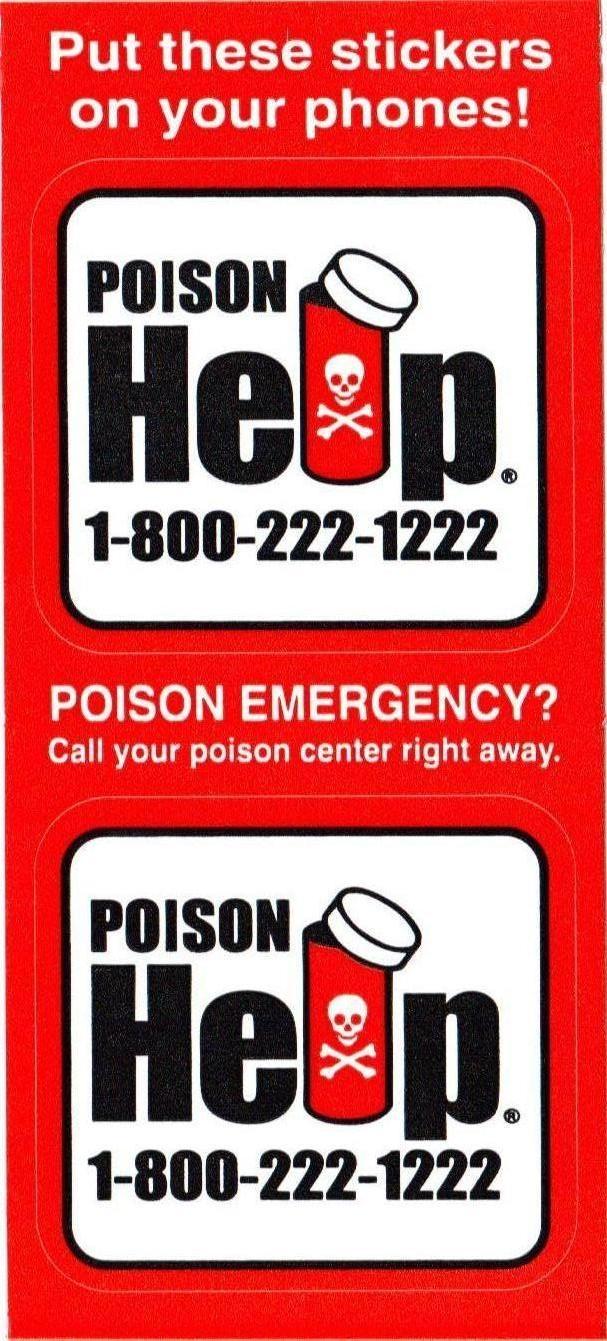 Poison Control Logo Running Ahead · Poison Control